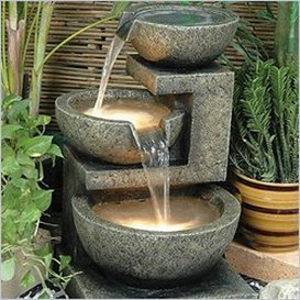 solar fountains solar garden decor