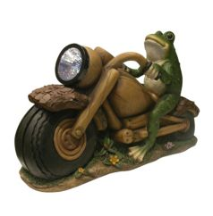 Solar Powered Frog on Motorcycle