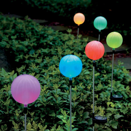 solar garden globes multi-color